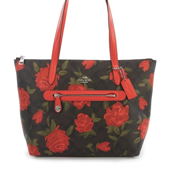 8d1ce186b4 Authentic COACH CAMO ROSE FLORAL TAYLOR TOTE NWT
